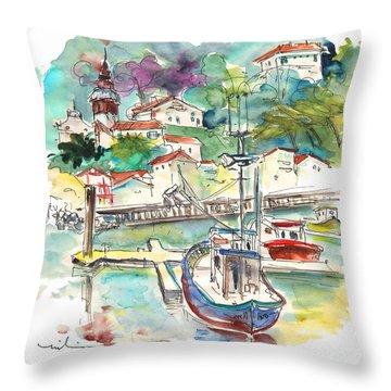 Saint-jean-de-luz 02 Throw Pillow by Miki De Goodaboom