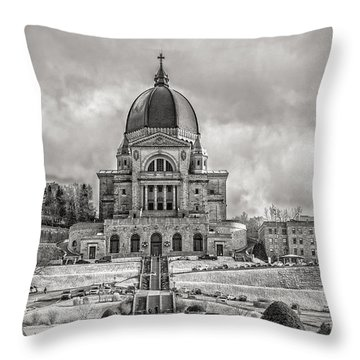 Saint Joseph Oratory Throw Pillow