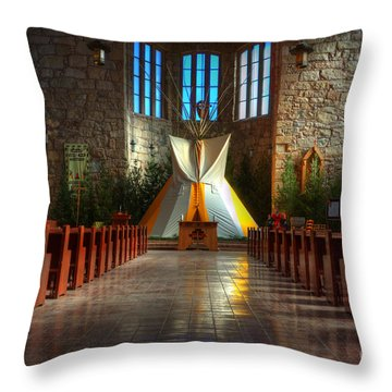 Saint Josephs Apache Mission Throw Pillow