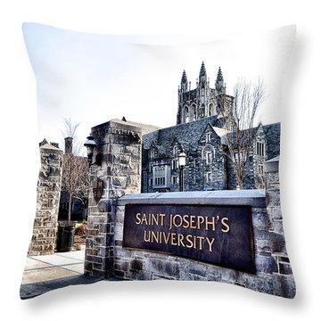 Saint Josephs University Throw Pillow by Bill Cannon