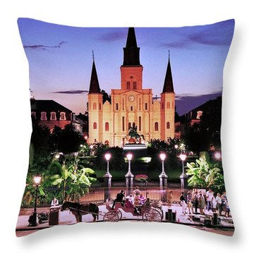 Saint Louis Cathedral New Orleans Throw Pillow