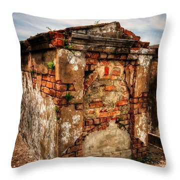 Saint Louis Cemetery No. 1 Brick Grave Throw Pillow