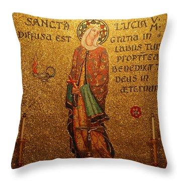Saint Lucia Altar Throw Pillow