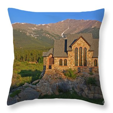 Saint Malo Chapel Throw Pillow