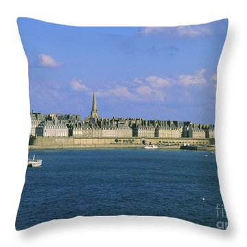 Saint Malo. Ille Et Vilaine. Brittany. Bretagne. France. Europe Throw Pillow by Bernard Jaubert