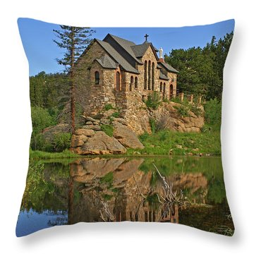 Saint Malo Reflection Throw Pillow