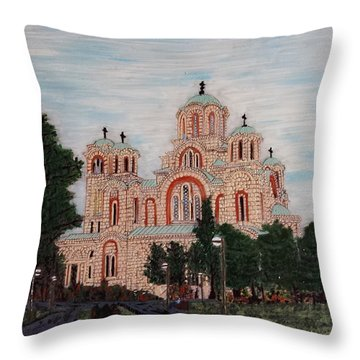 Saint Marko Church  Belgrade  Serbia  Throw Pillow