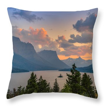 Saint Mary Lake Throw Pillow