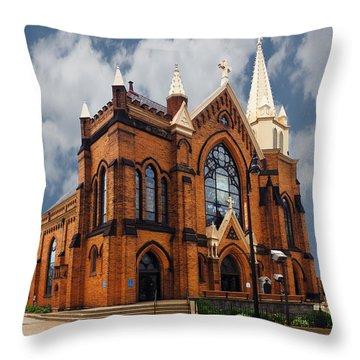 Saint Mary Of The Mount Church Throw Pillow