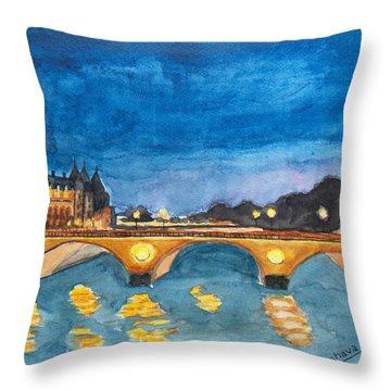 Saint-michael Bvd. Paris Throw Pillow
