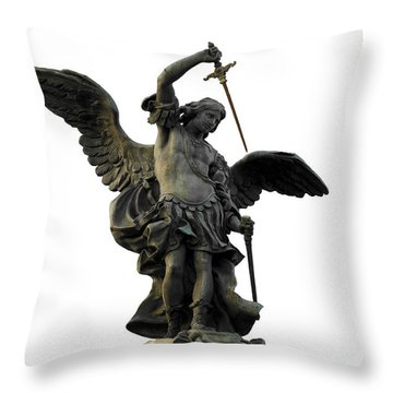 Saint Michael Throw Pillow