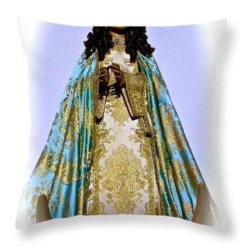 Saint Mother Of Jesus Throw Pillow