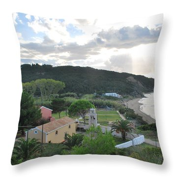 Throw Pillow featuring the photograph Saint Nicholas 1822 by George Katechis