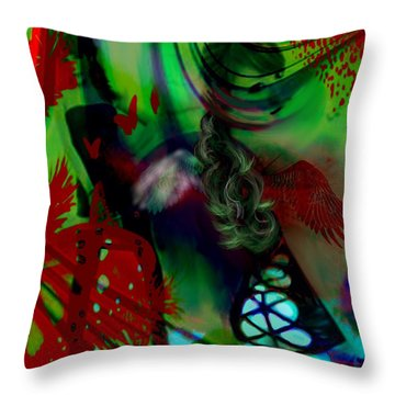 Throw Pillow featuring the digital art Saint Or Sinner by Diana Riukas