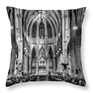 Saint Patrick Cathedral 001 Throw Pillow
