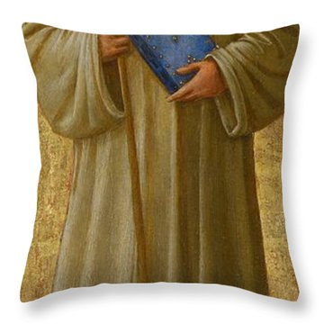 Saint Romuald Throw Pillow by Fra Angelico