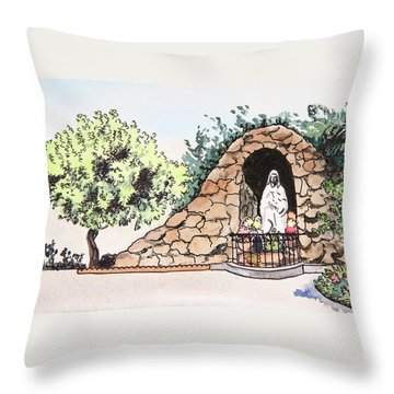 Saint Rosa Throw Pillow