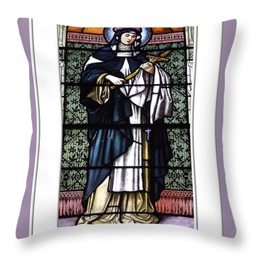 Throw Pillow featuring the photograph Saint Rose Of Lima Stained Glass Window by Rose Santuci-Sofranko
