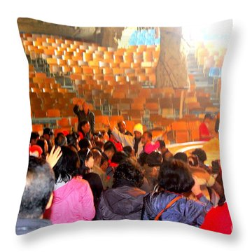 Throw Pillow featuring the photograph Cave  Church In Egypt by Jason Sentuf