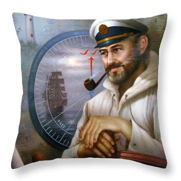 Saint Simons Island Sea Captain 1 Throw Pillow