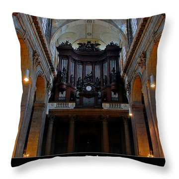 Saint Sulpice Throw Pillow by Dany Lison