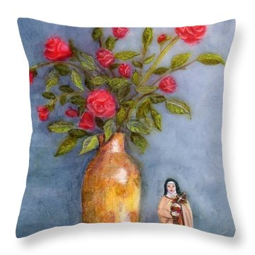 Saint Therese Of The Little Flower Throw Pillow
