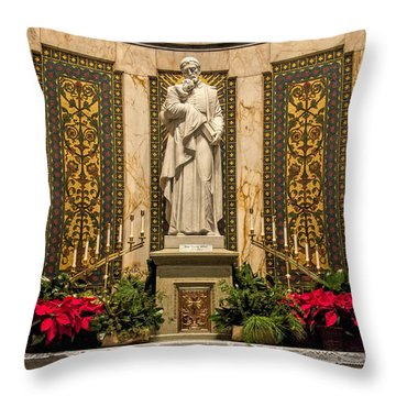 Saint Vincent Depaul Chapel Throw Pillow