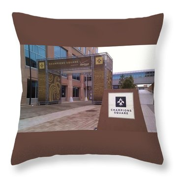 Saints - Champions Square - New Orleans La Throw Pillow