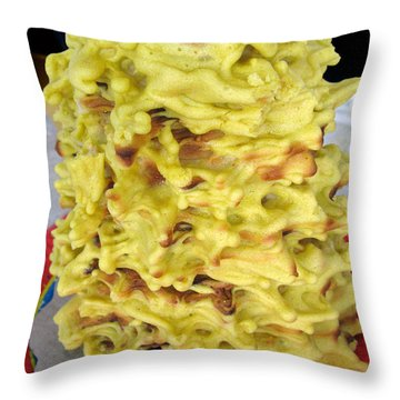 Sakotis. Lithuanian Tree Cake. Throw Pillow