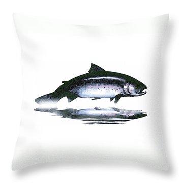 Salar - The Leaper Throw Pillow