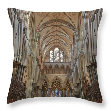 Salisbury Cathedral Quire And High Altar Throw Pillow by Terri Waters