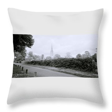 Salisbury Cathedral Throw Pillow by Shaun Higson