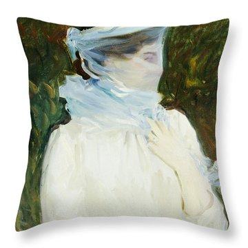 Sally Fairchild Throw Pillow by John Singer Sargent