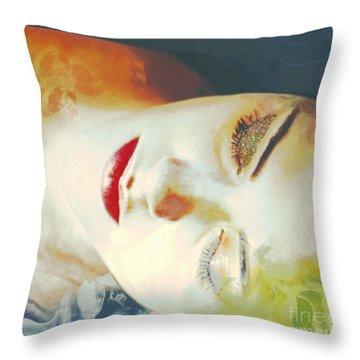 Sally Sleeps Throw Pillow