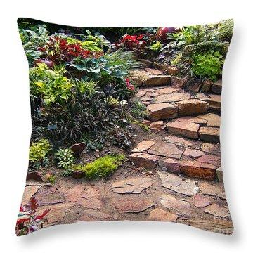 Sally's Garden Throw Pillow by Nancy Harrison