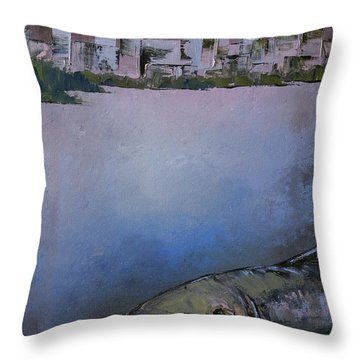 Salmon City Throw Pillow