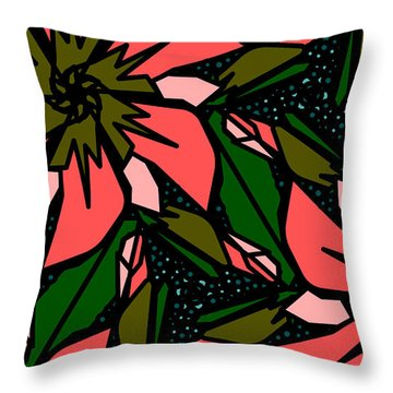 Throw Pillow featuring the digital art Salmon-pink by Elizabeth McTaggart
