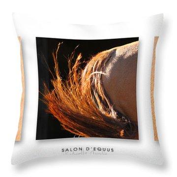 Salon D'equus Dark Throw Pillow