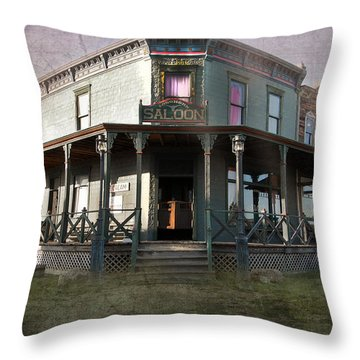 Saloon Throw Pillow