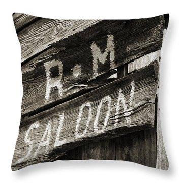 Saloon Throw Pillow