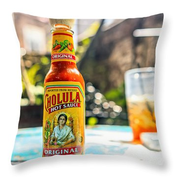 Salsa Caliente Throw Pillow by Sennie Pierson