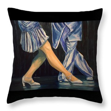 Salsa Stepping Throw Pillow