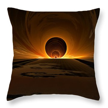 Salsa Sunrise Throw Pillow by GJ Blackman