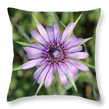 Salsify Flower Throw Pillow by George Atsametakis