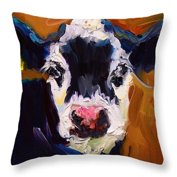 Salt And Pepper Cow 2 Throw Pillow