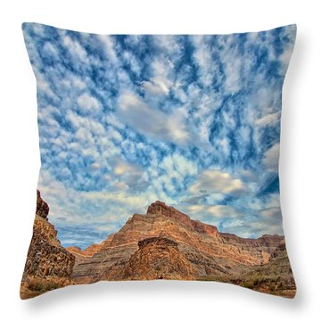 Salt Creek Clouds Throw Pillow