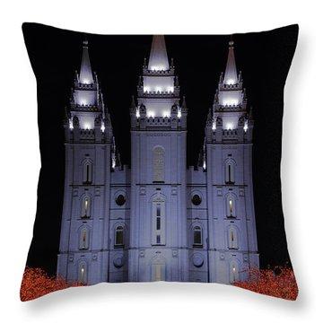 Salt Lake Christmas Throw Pillow