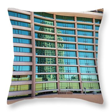 Throw Pillow featuring the photograph Salt Lake City Architecture Reflection by Ely Arsha