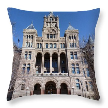 Throw Pillow featuring the photograph Salt Lake City - City Hall - 2 by Ely Arsha