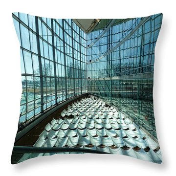 Throw Pillow featuring the photograph Salt Lake City Library by Ely Arsha